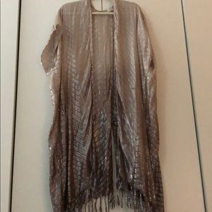Free People shimmer beach cover up